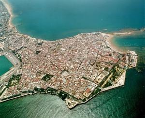 Cádiz, vista aérea