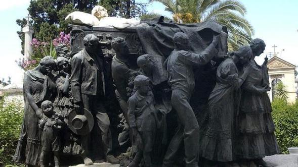 Sepultura del torero Joselito en el Cementerio de San Fernado, Sevilla